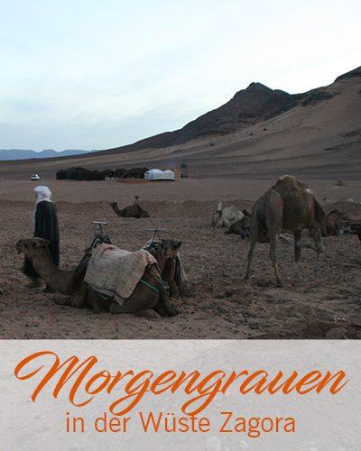 Marokko-Reise – Morgengrauen in der Wüste Zagora