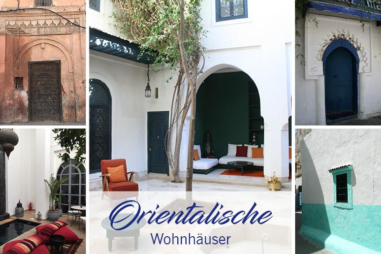 Orientalische Wohnhäuser, genannt 'riads', in Marrakesch