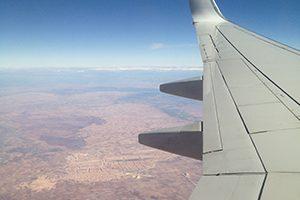Flugzeug nach Marrakesch
