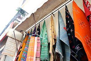 Teppichladen in der Medina von Tanger
