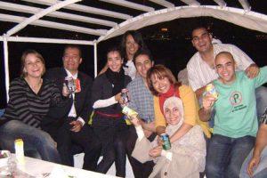Freunde auf der Feluka auf dem Nil