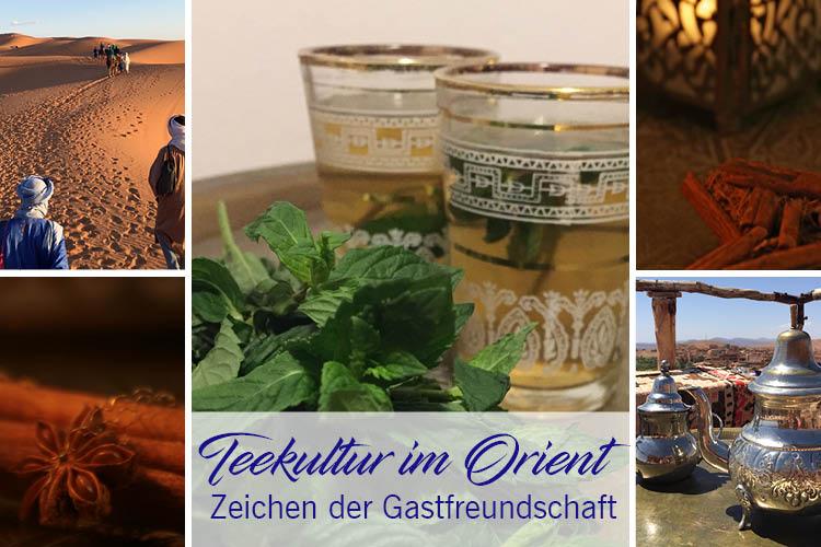 Orientalische Teekultur, Teegläser, Glas Tee als Zeichen der Gastfreundschaft