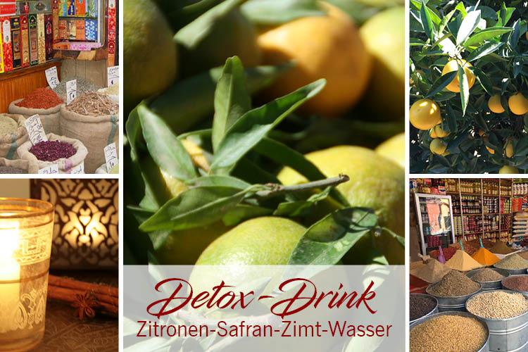 Detox-Drink aus Marrakesch: Zitronen-Safran-Zimt-Wasser
