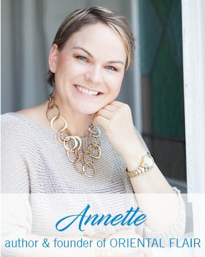 Portrait about Oriental Flair author Annette