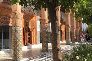 Innenhof - Palast Dar el Bacha in Marrakesch - Geheimtipp