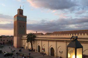 Kasbah Viertel mit Kasbah Moschee in Marrakesch