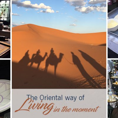 The Oriental way of 'Living in the moment'