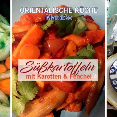 Süßkartoffeln mit Karotten und Fenchel – vegetarisch
