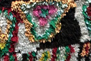 Boucherouite Teppich geknüpft von Berberfrauen in Marokko