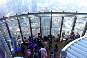 Burj Khalifa, Dubai, auf der Aussichtsplattform