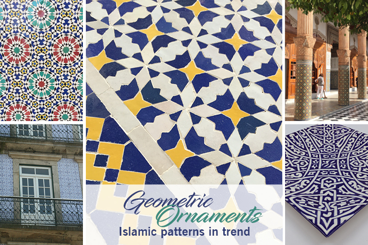 Geometric ornaments - Islamic patterns in trend