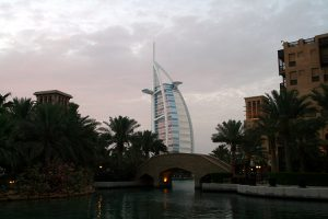 Madinat Jumeirah with Burj Al Arab in Dubai