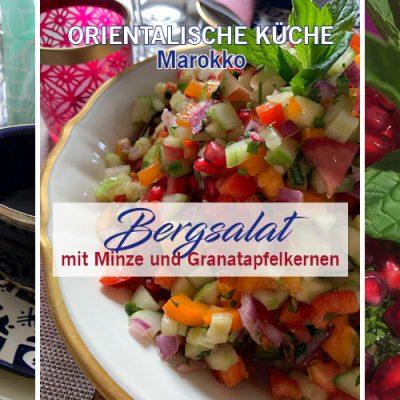 Marokkanischer Salat mit Minze und Granatapfelkernen