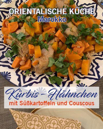 Kürbis-Hähnchen mit Süßkartoffeln und Couscous