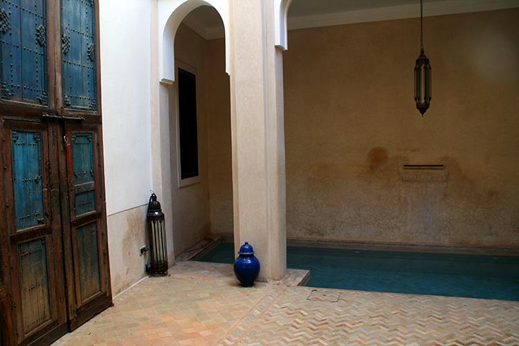 Riad Dar Sara Innenhof mit Pool