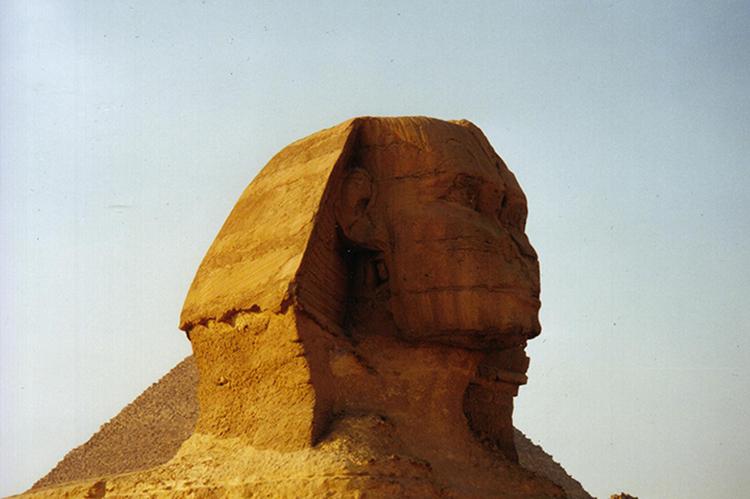 Sphinx an den Pyramiden von Gizeh